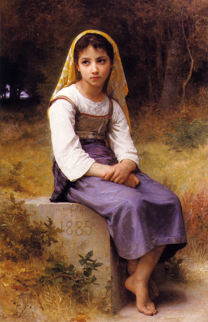"""Meditation,"" Adolphe-William Bouguereau, 1885, Joslyn Art Museum"