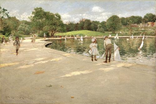"""A Lake for Miniature Yachts,"" by William Merritt Chase, ca. 1888, The Metropolitan Museum of Art"