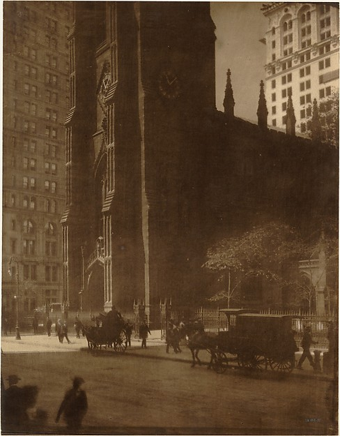 Edward Steichen, Trinity Church, New York, 1904. Metropolitan Museum.