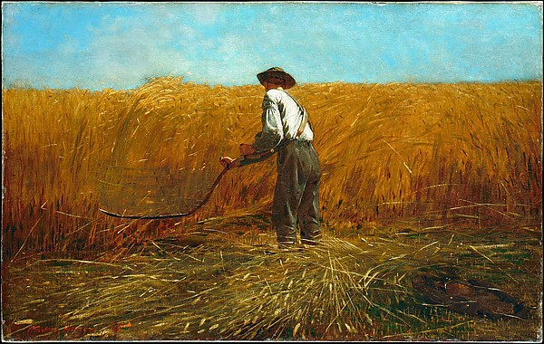 """The Veteran in a New Field,"" by Winslow Homer, 1865, in the Met."