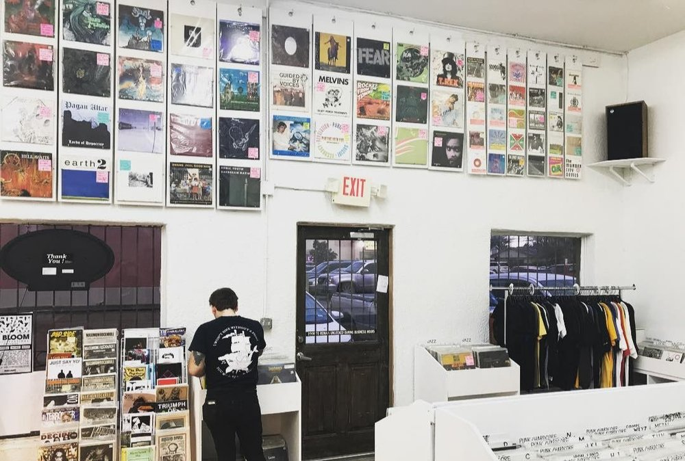 DEEP END RECORDS - Formally inside of Walters Downtown, Now an indefinite pop-up inside of Insomnia Gallery.  Check out our website for more info!