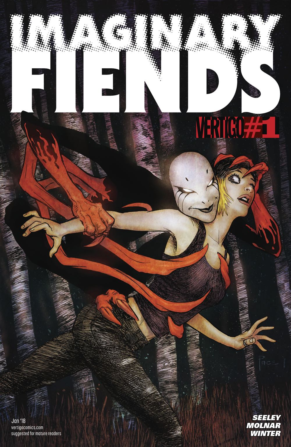Episode 12 Cover of the Week! - (Vertigo) Imaginary Fiends #1Cover by Richard PaceWritten Tim SeeleyIllustrated by Stephen MolnarDid the Content Match the Drapes? - YES!