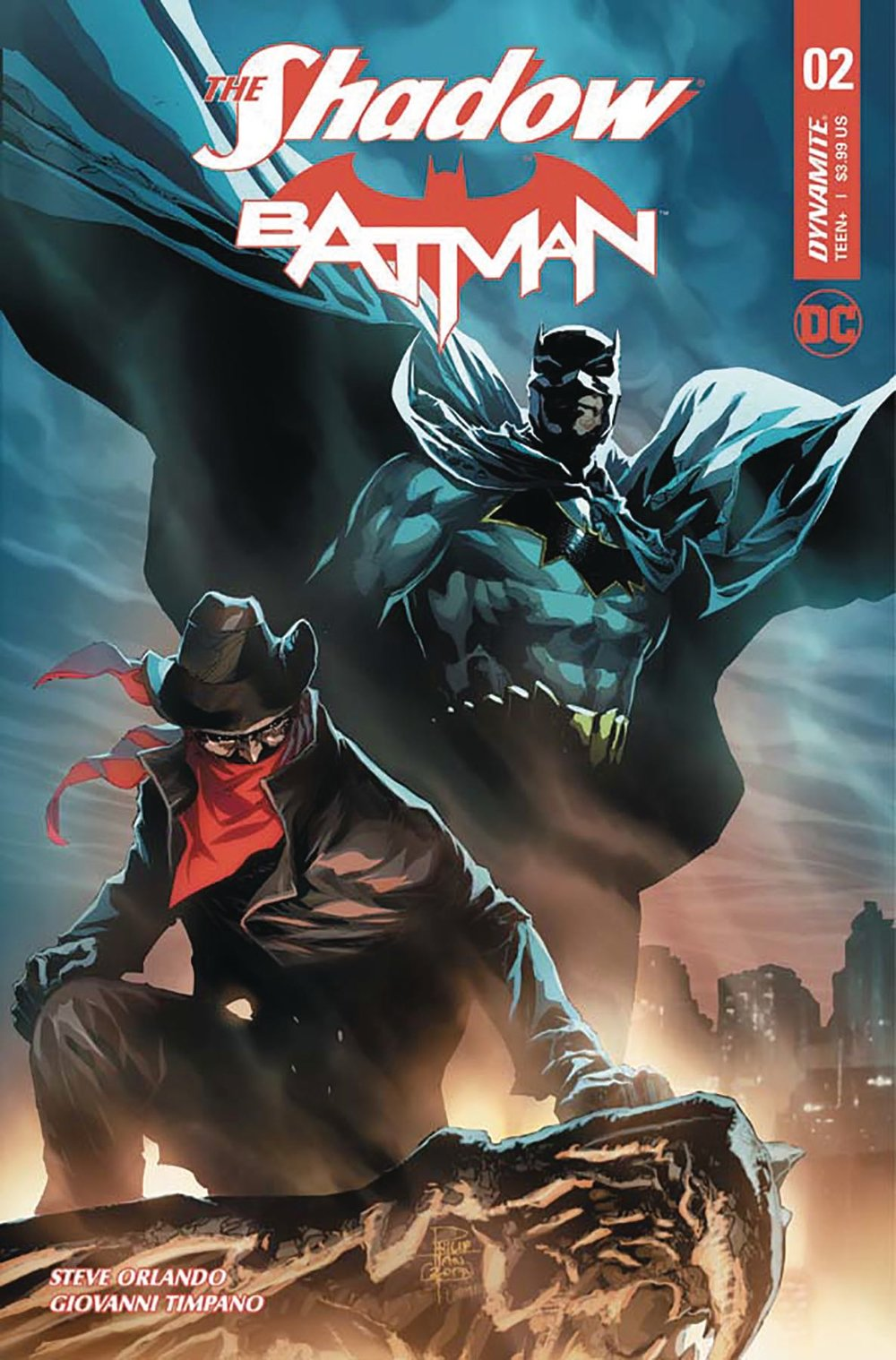 Episode 9 Variant of the Week! - (Dynamite) The Shadow / Batman #2 (Tan Variant)Cover by Philip TanWritten by Steve OrlandoIllustrated by Giovanni TimpanoDid the Content Match the Drapes? - Yes