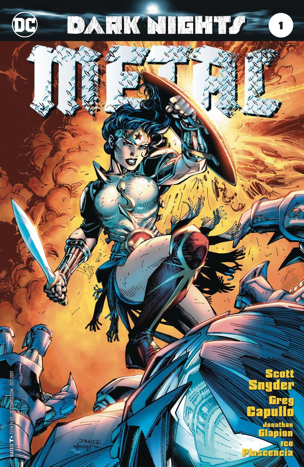 Episode 4 Variant of the Week! - (DC) Dark Nights: METAL #1 (Lee Variant)Cover by Jim LeeWritten by Scott SnyderIllustrated by Greg Capullo and Danny MikiDid the Content Match the Drapes? - No