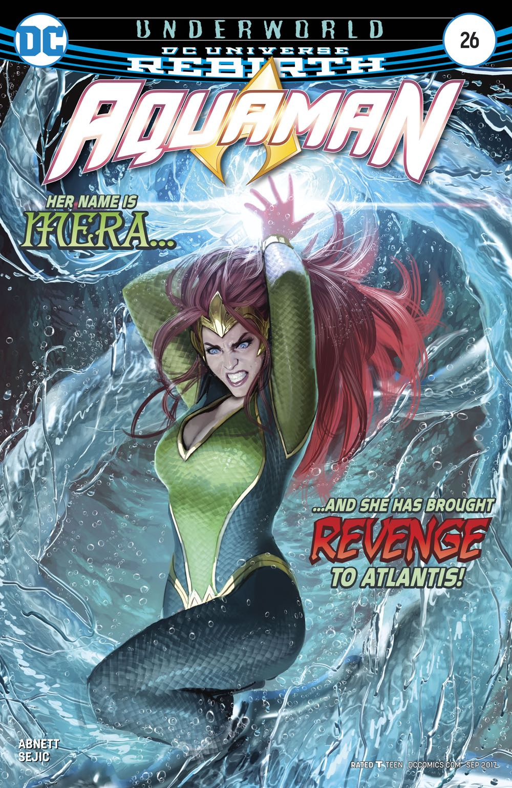 Episode 1 Cover of the Week! - (DC) Aquaman #26Cover by Stjepan SejicWritten by Dan AbnettIllustrated by Stjepan SejicDid the Content Match the Drapes? - Yes! (Outstanding)