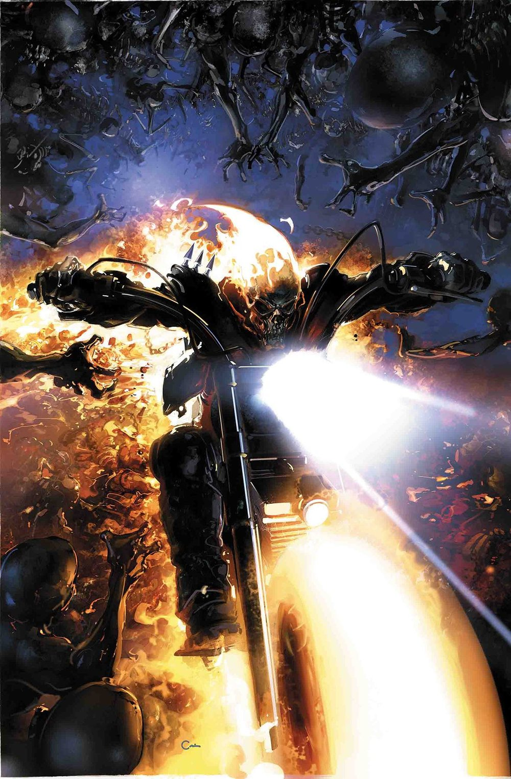 Episode 27 Cover of the Week! - (Marvel) Damnation: Johnny Blaze, Ghost Rider #1Cover by Clayton CrainWritten by Christopher SebelaIllustrated by Phil NotoDid the Content Match the Drapes - Yes!