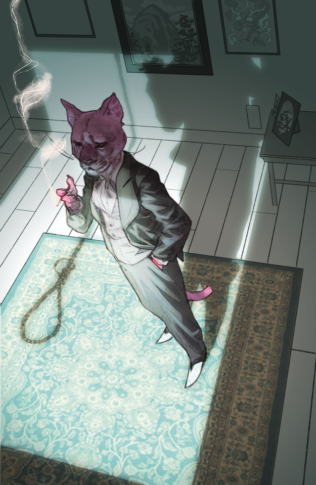 Episode 32 Cover of the Week! - (DC) Exit Stage Left : The Snagglepuss Chronicles #5Cover by Ben CaldwellWritten by Mark RussellIllustrated by Sean Parsons and Mike FeehanDid the Content Match the Drapes? - UNR