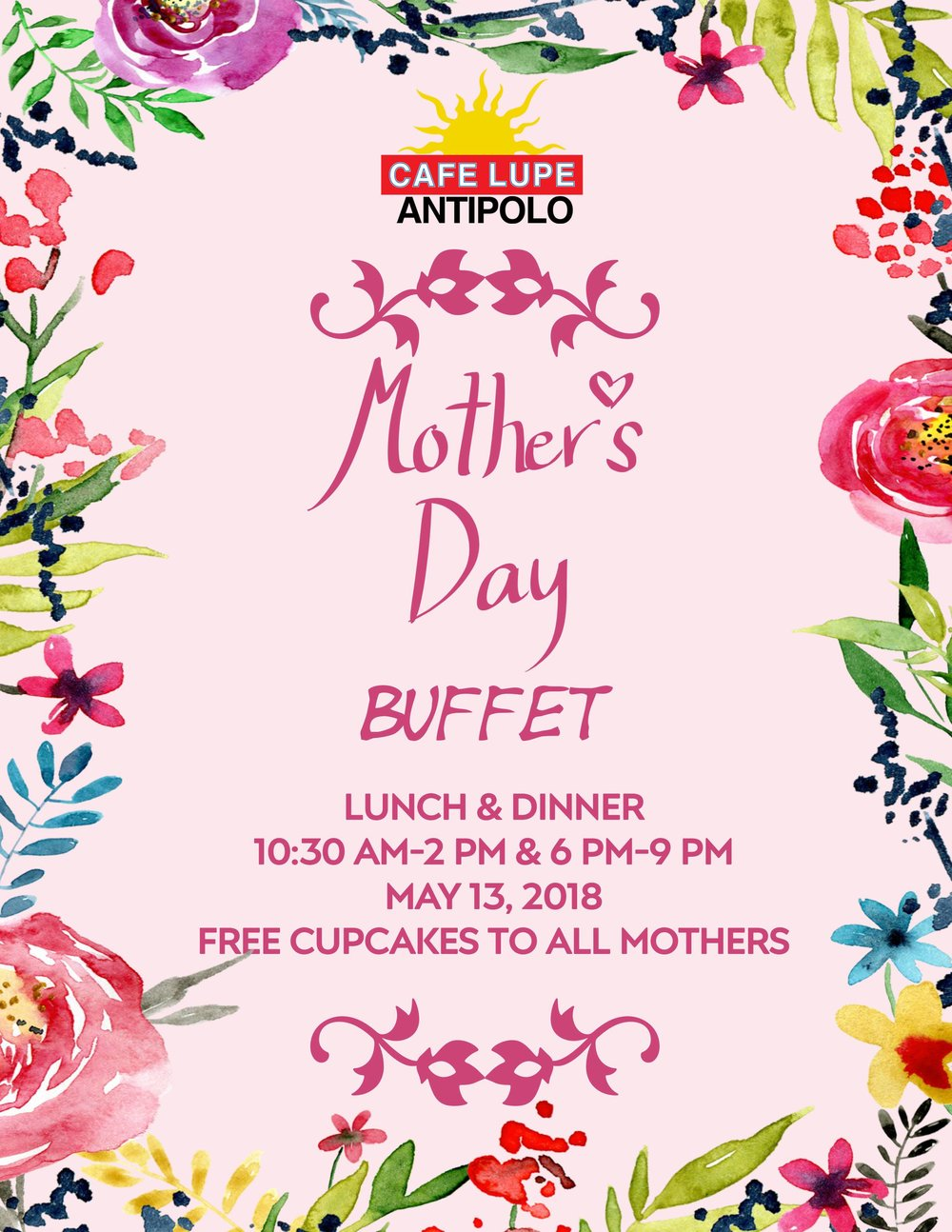 Mother's Day Buffet Event in Cafe Lupe Antipolo