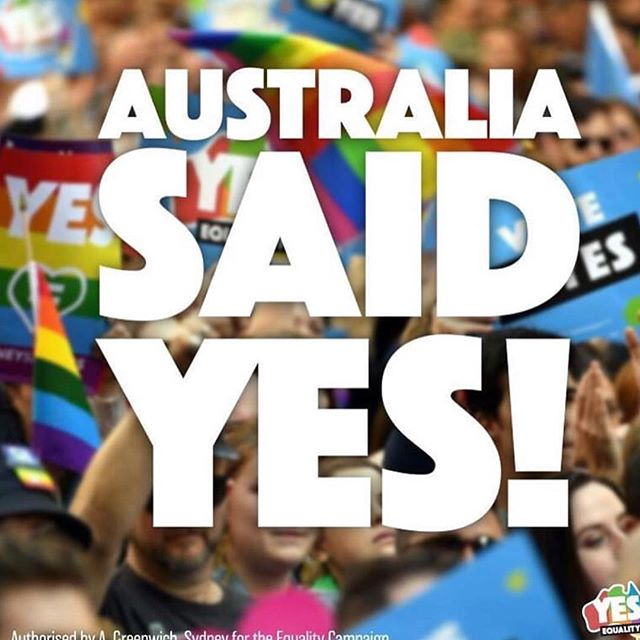What a great day for Australians and #equality  #love #unity #change