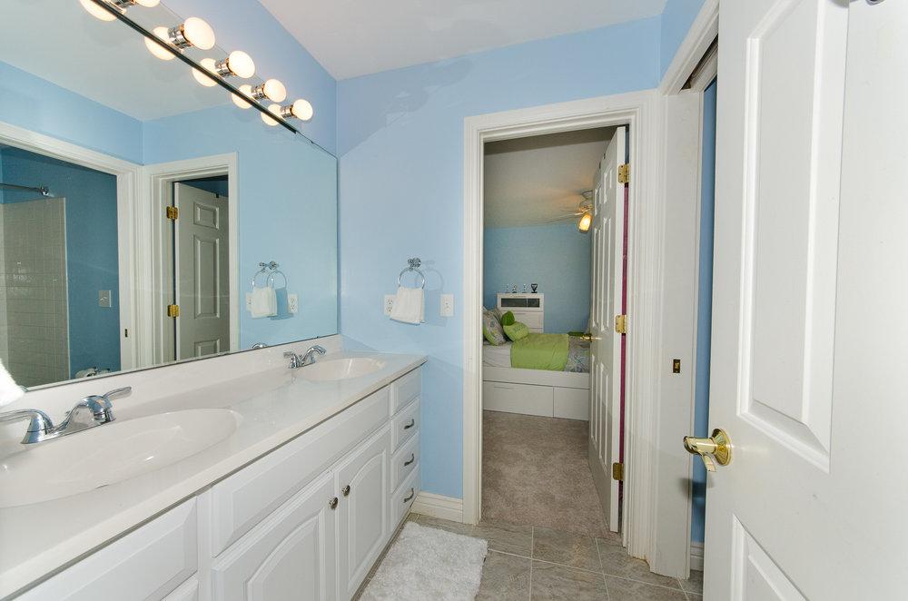 Jack and Jill bathroom between bedrooms #2 and #3