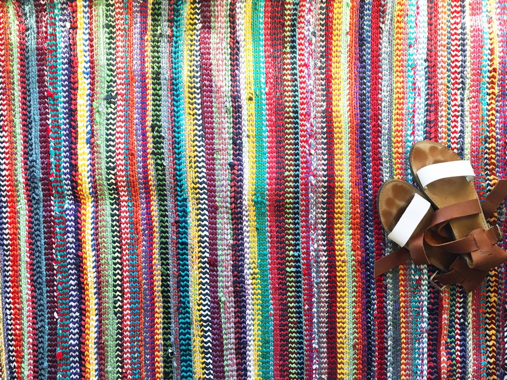 Weaving - and other items made from recycled fabric