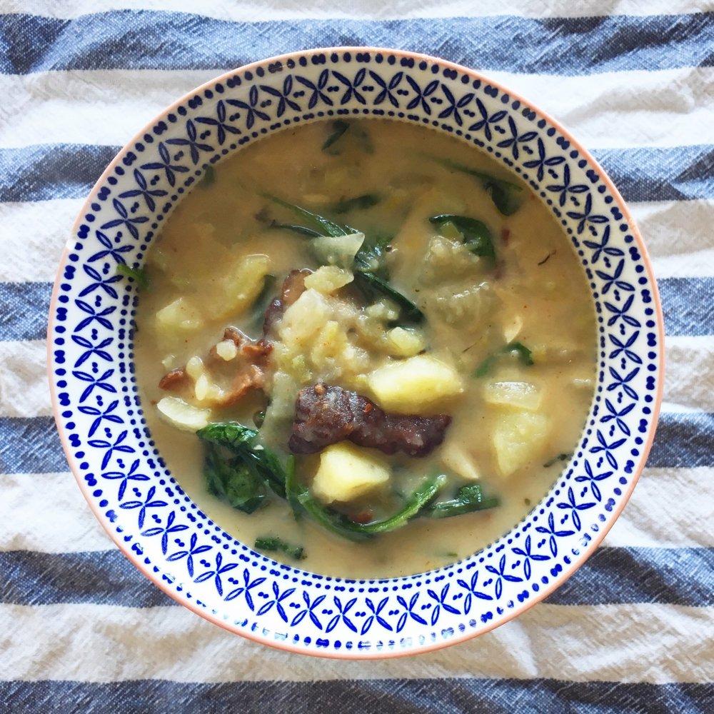Wild Lettuce Soup