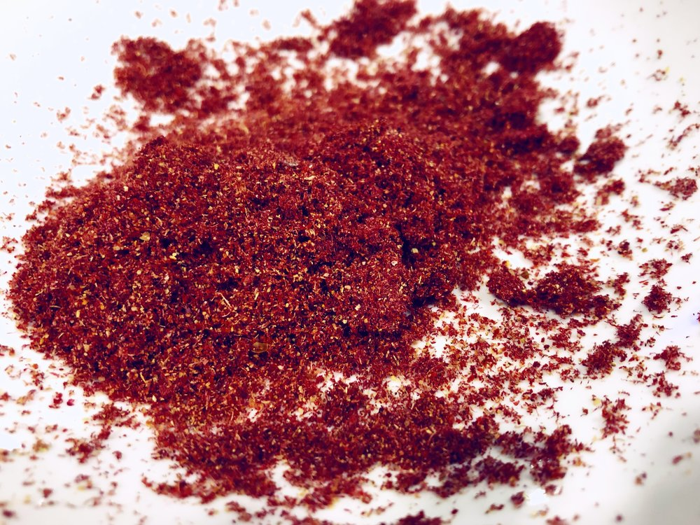 My home processed sumac powder.