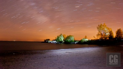 Night Photography at Port Stanley Little Beach