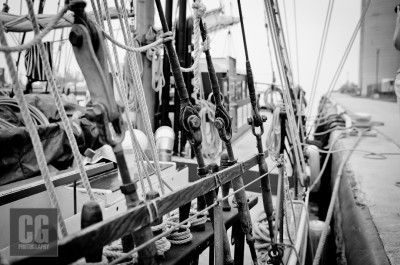 Day 1 of the Black and White Photo Challenge.  Tall Ships at Port Stanley