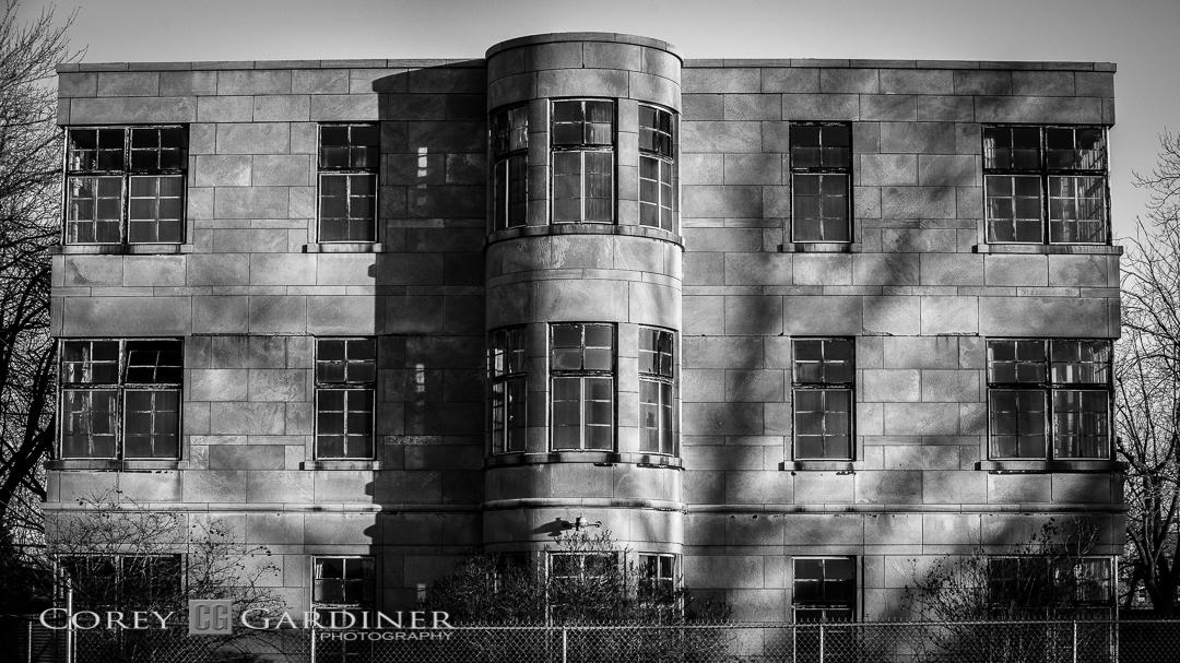 Corey Gardiner Monocrome Old Psych Hospital-1