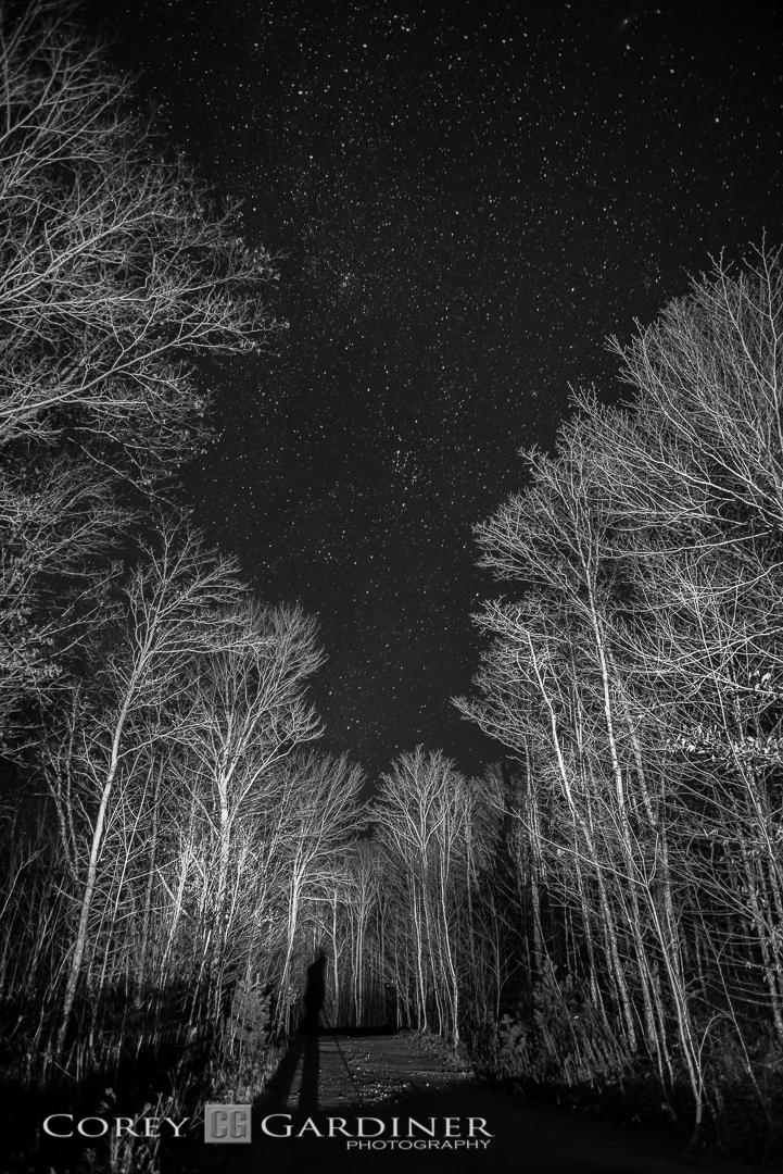 Corey Gardiner Monocrome Parry Sound Night-1