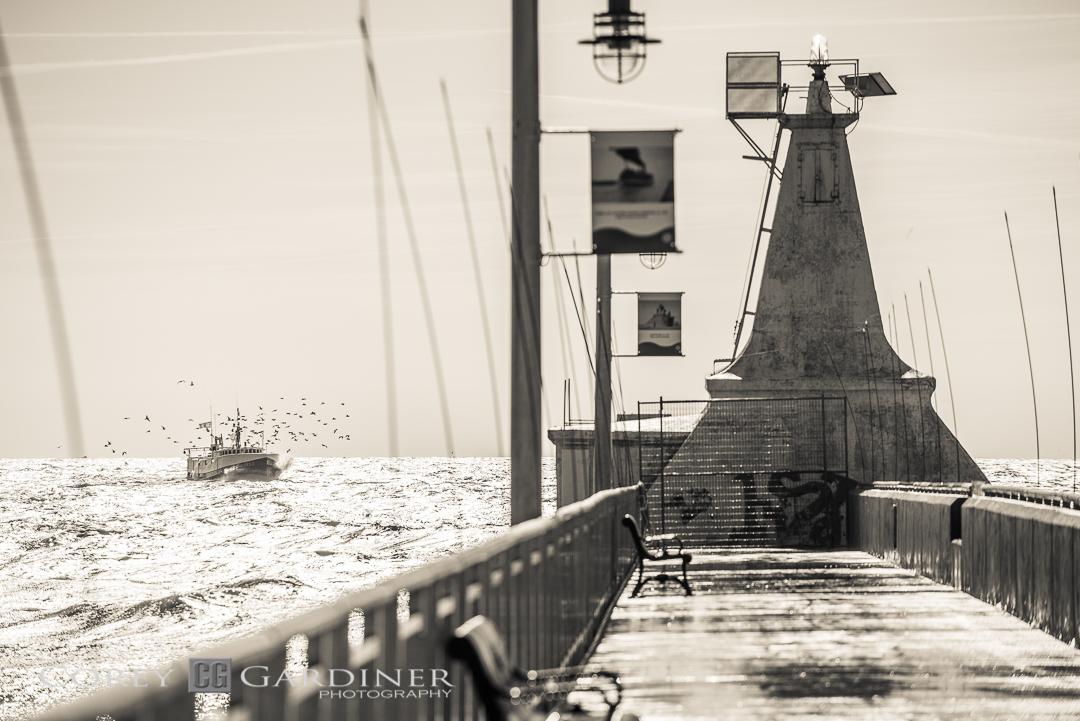 Corey Gardiner Monocrome Port Stanley Pier-3