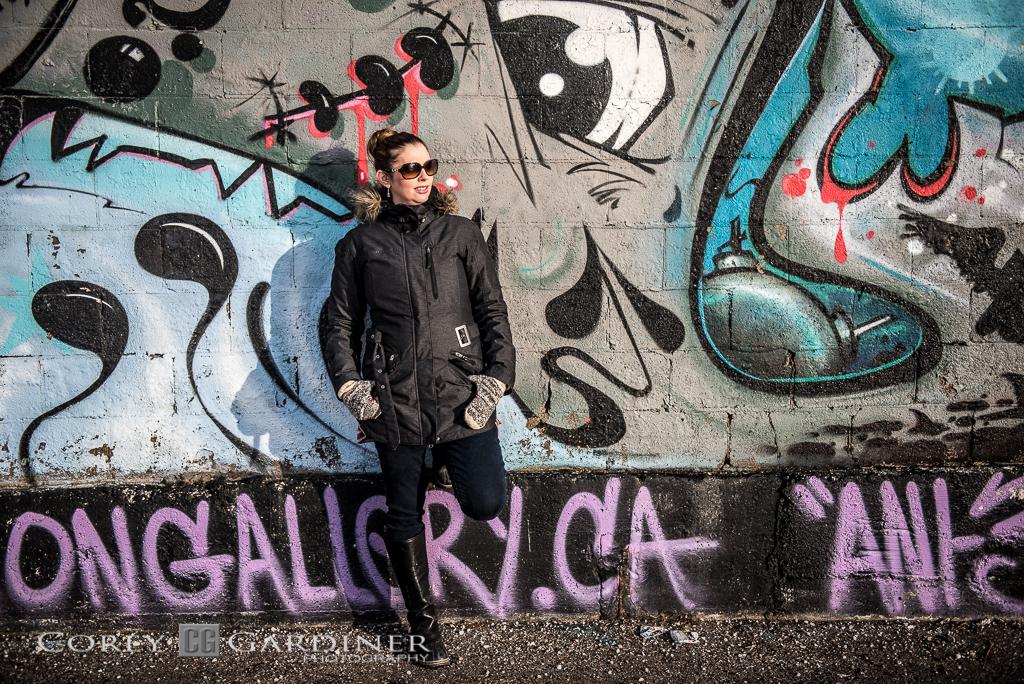 Graffiti Photo Shoot w Bobbi-Jo Gardiner-1