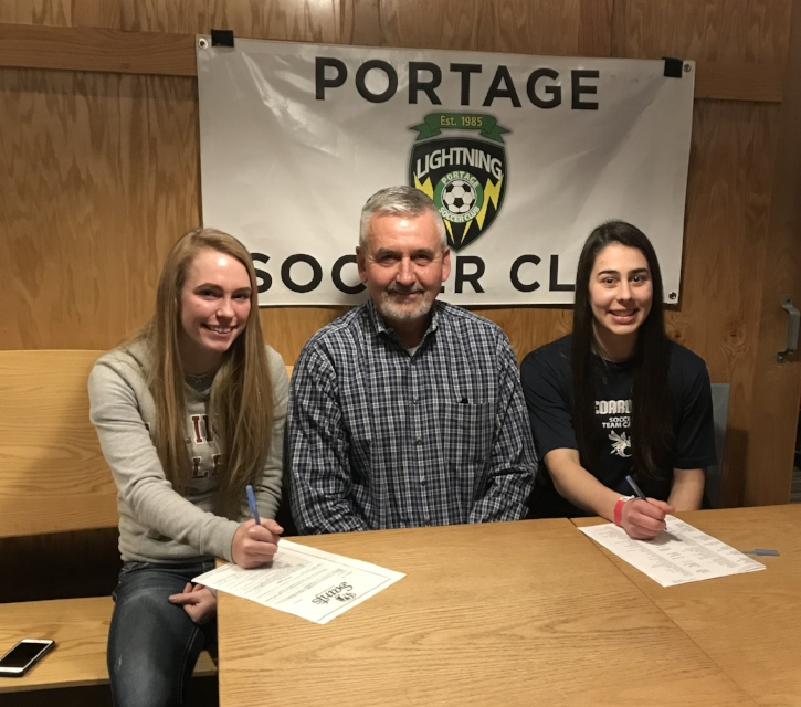 Sara Olivarez and Hailey Burr with Paul Knight.JPG
