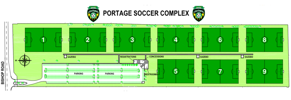 Portage Soccer Complex Map.png