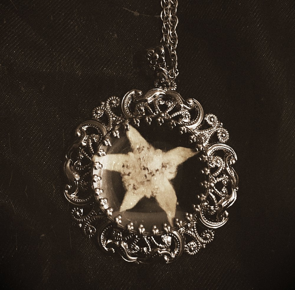 Vintage edelweiss pendant from Austria.
