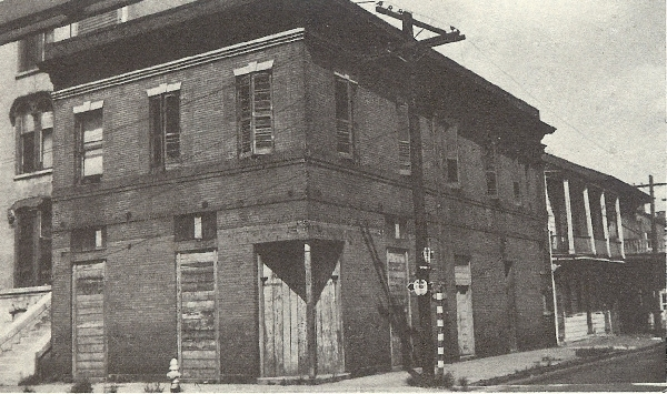 Location of Lulu White's Saloon Photo 1943 from Storyville New Orleans by Al Rose