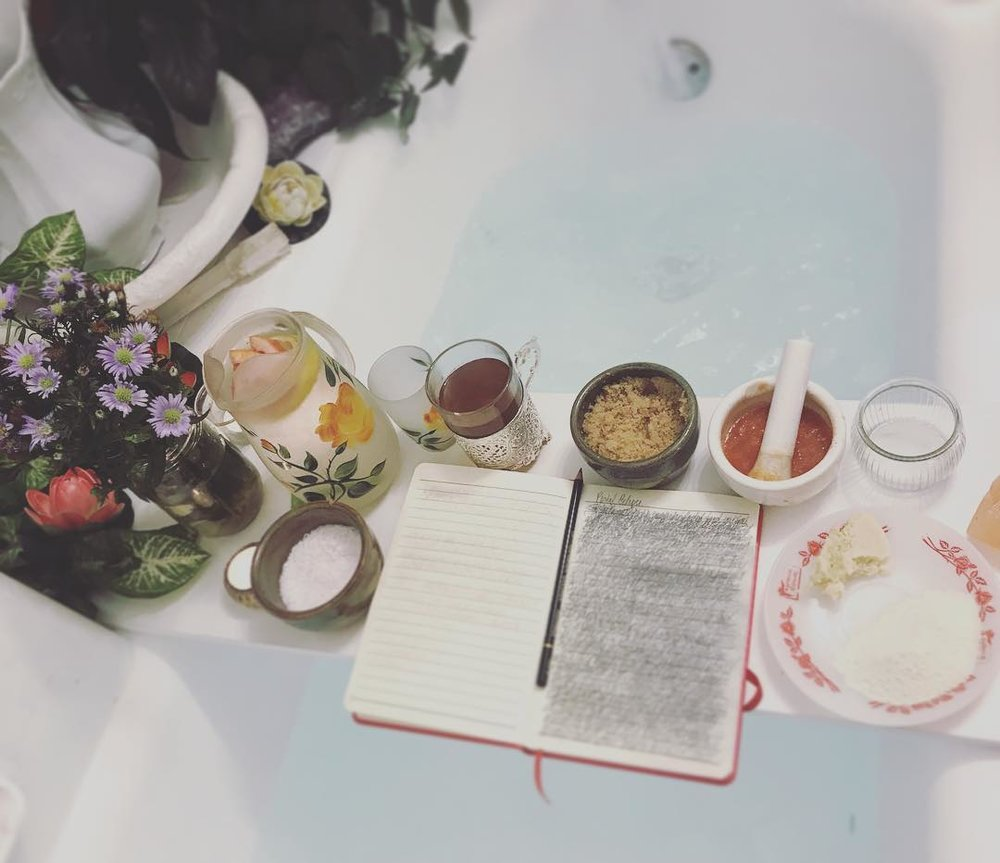 Home spa and wish journal.