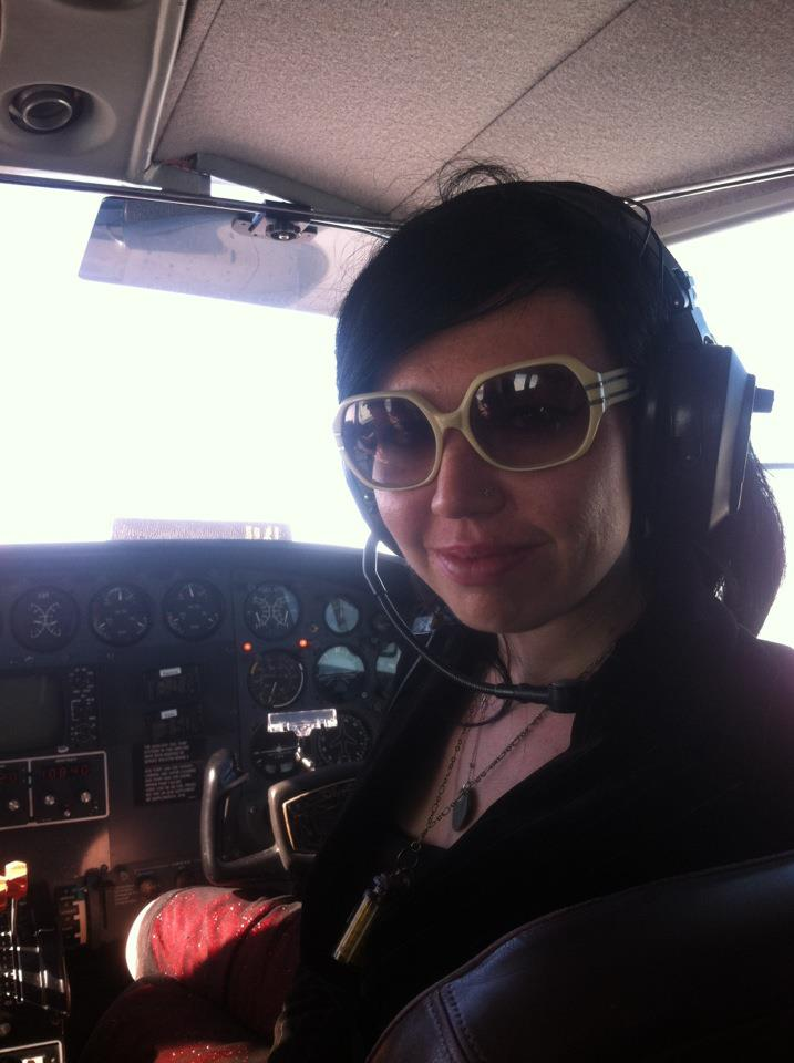 That's me in the cockpit playing co-pilot.
