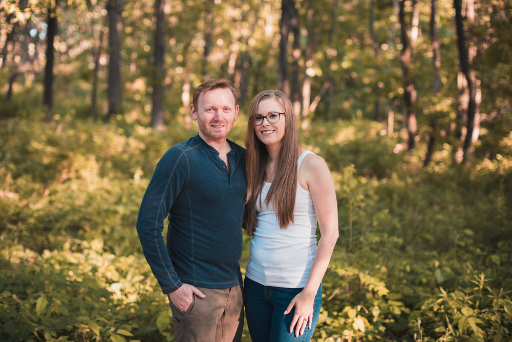 - Both Amanda and Sean are outdoorsy people who love to camp, so it made sense to shoot their engagement session at Waterfall Glen Forest Preserve in Lemont, IL.  It's 2,492 acres of beautiful forest preserve and the main hiking trail is 9.5 miles long.  It was only fitting to go on a small hike with the both of them.