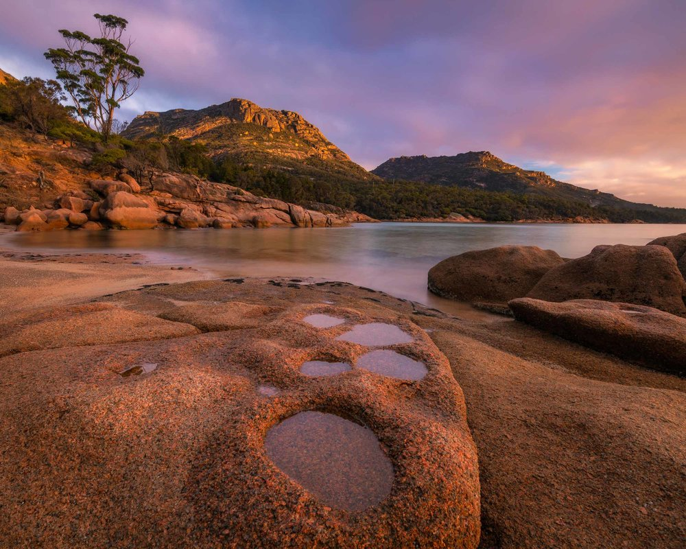 Footprints in Stone - Coles Bay, Freycinet National Park - Tasmania