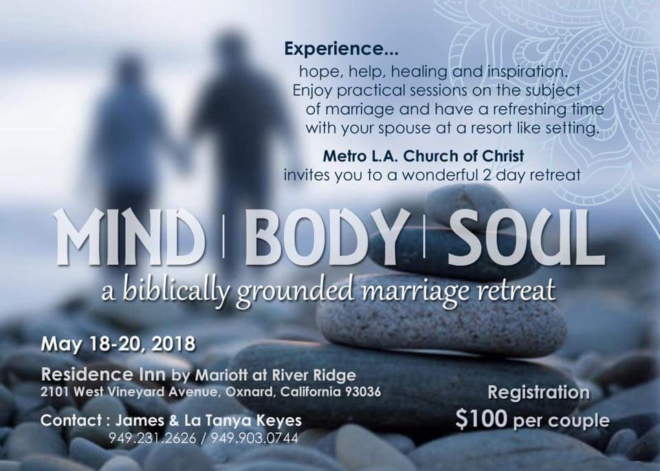 Retreat Registration:  https://metrola.ccbchurch.com/goto/forms/19/responses/new     Hotel Registration:  http://www.marriott.com/meeting-event-hotels/group-corporate-travel/groupCorp.mi?resLinkData=International%20Church%20of%20Christ%20Marriage%20Retreat%20%5EOXRRI%60ICCICCA%60169.00%60USD%60false%603%605/18/18%605/20/18%604/20/18&app=resvlink&stop_mobi=yes