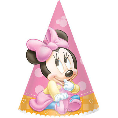 Minnie Mouse 1st Birthday Party Hats Ready To