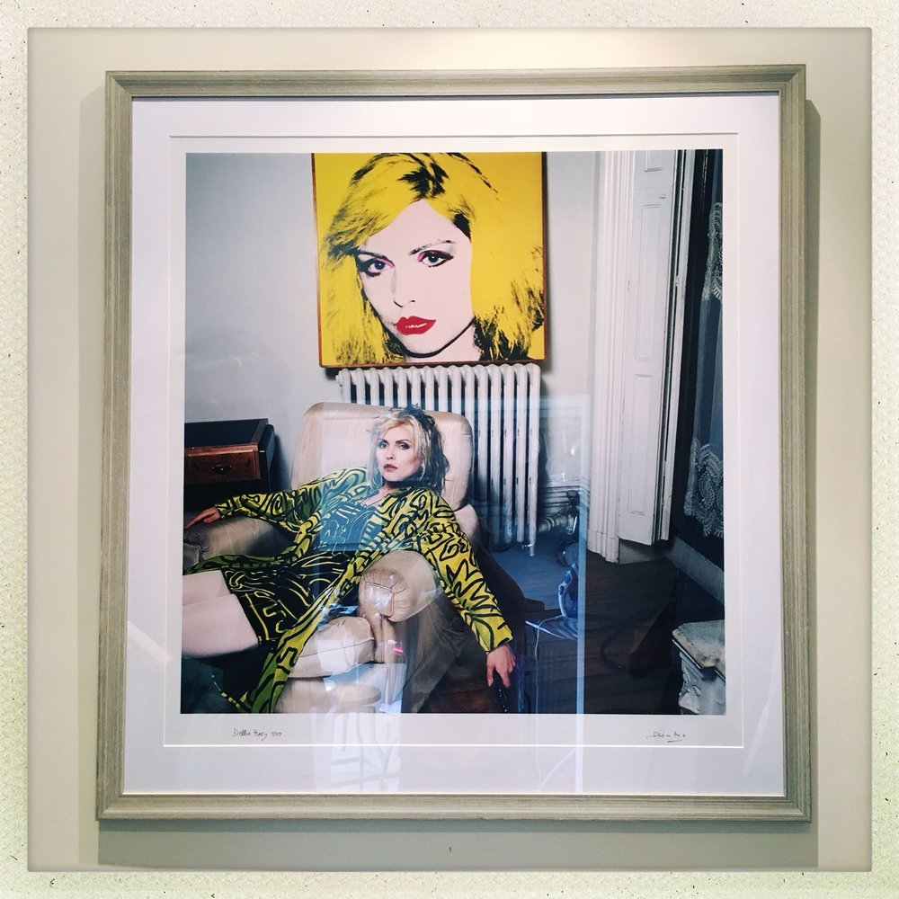 Limited edition print - 9 of 25 - Debbie Harry in her NYC apartment photographed in 1988 - 30' x 30' C-Type Lambda high quality print, limited ed. 9 of 25Set in neutral mount with stylish, textured grey frame.Framed price excluding delivery: £1,450.00