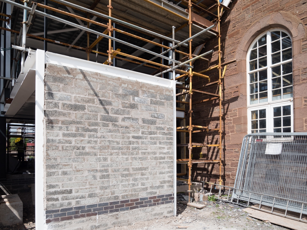 creating the rear entrance