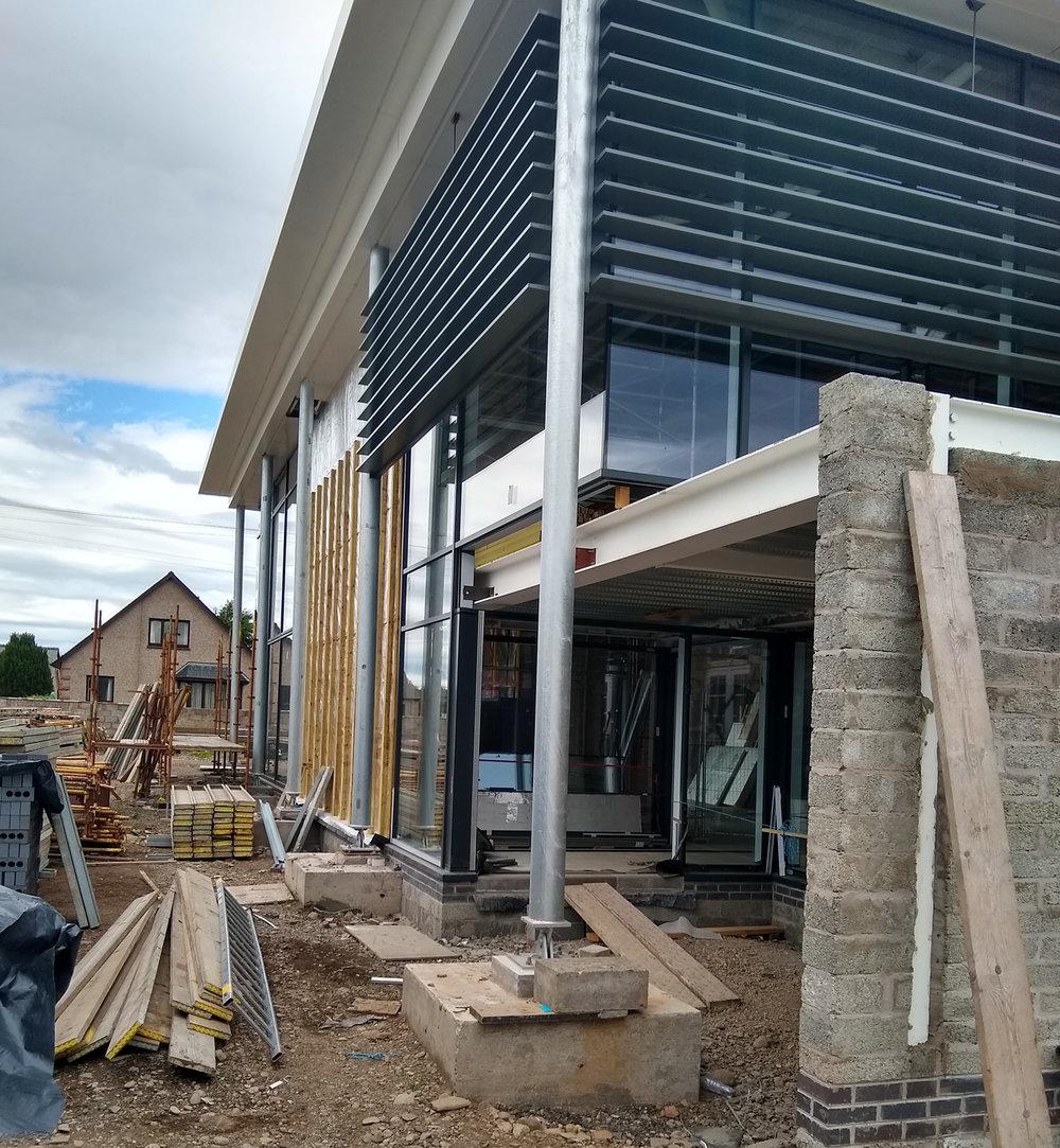 Friock Hub new rear entrance