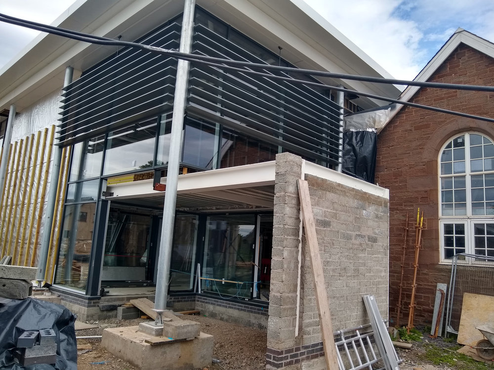 scaffolding coming down at friock hub