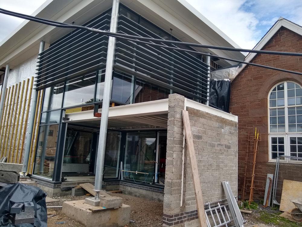 scaffolding coming down at friock hub