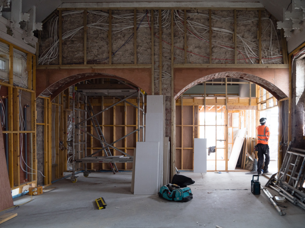 Second hall archway leading to Changing Places & Sensory Room