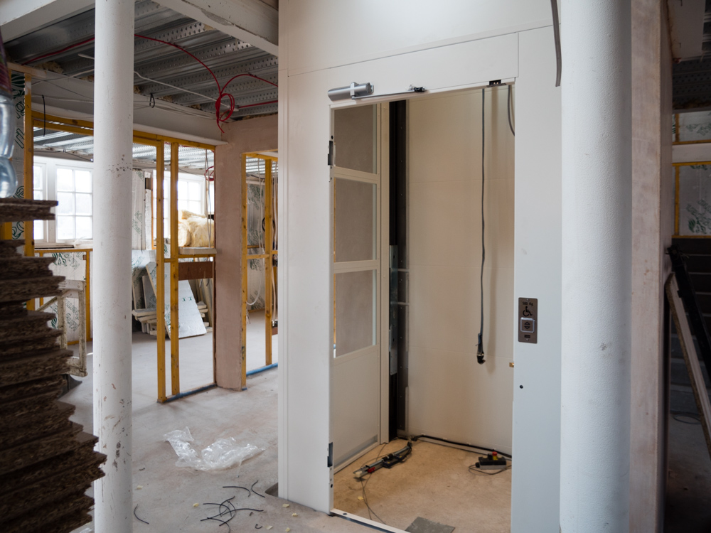 Lift being installed this week