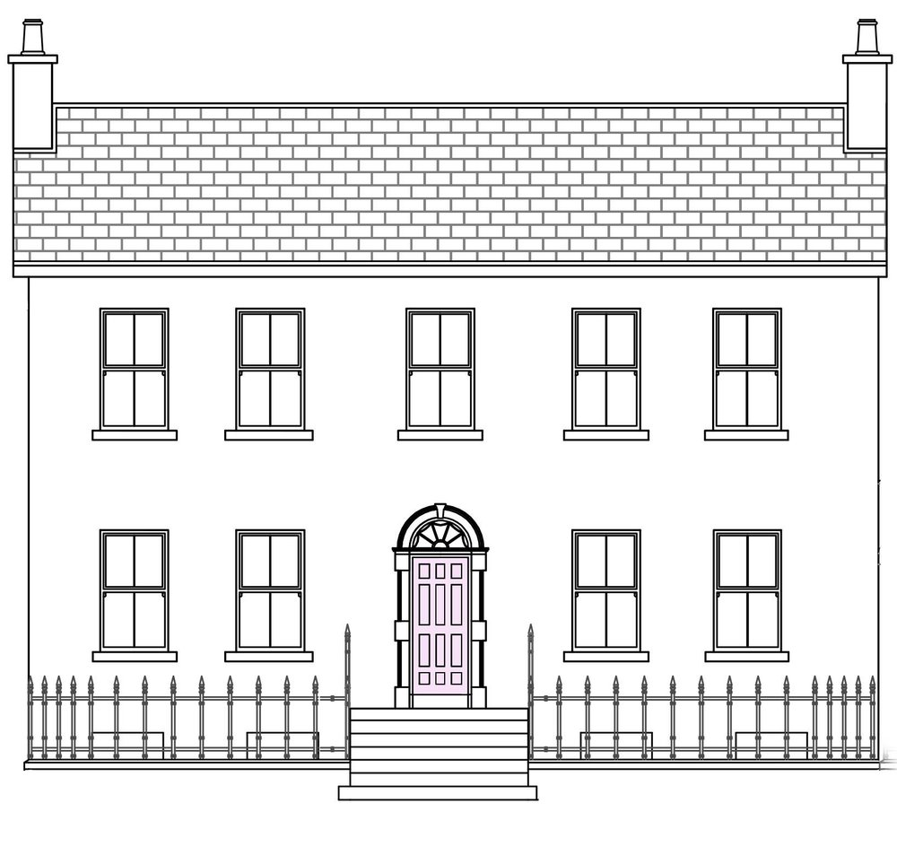 Front elevation drawing by Frank Murray • Murray Architectural Services •  www.murrayas.ie