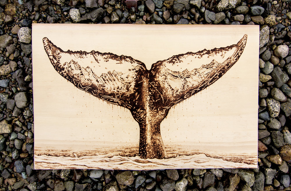 "Roots, Live Edge Yellow Cedar, 16"" x  24"" 2017."