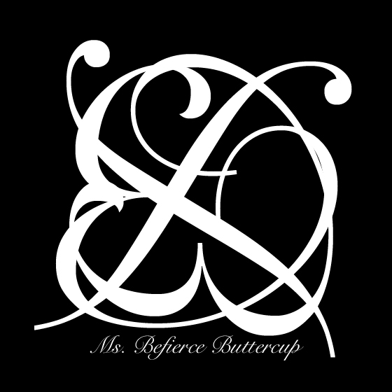 Ms. Befierce Buttercup's logo. She will have her own line of products that can be worn by both women and men. Her products will be sold in the official Finncock store.