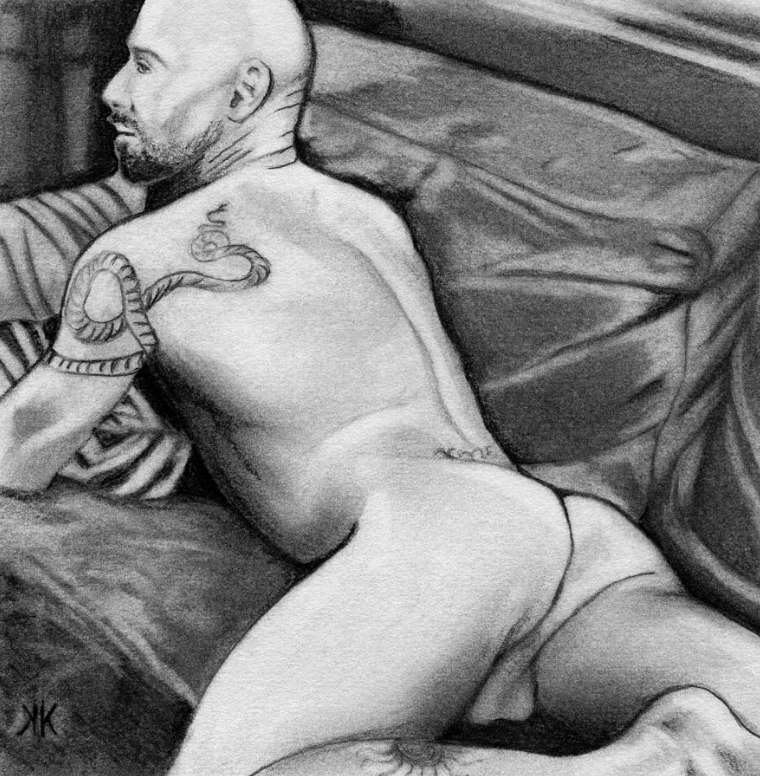 dan on the couch (2013) - Graphite on paper. Original available. To inquire, write to finncock@finncock.com or to buy a print, check out the FAA print store via button on the page.