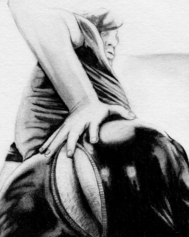 unzipped (2013) - Graphite on paper. Original available. To inquire, write to finncock@finncock.com or to buy a print, check out the FAA print store via button on the page.