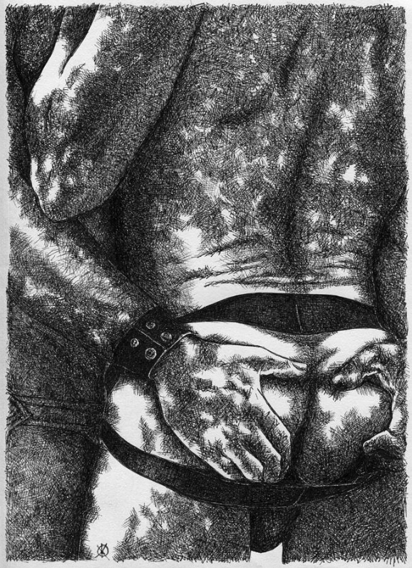 MINE (2014) - Pen-and-ink on paper. Original available. To inquire, write to finncock@finncock.com or to buy a print, check out the FAA print store via button on the page.