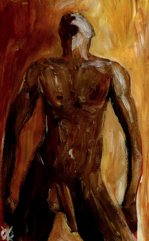 THE MYTH (2013) - Acrylic on paper. Original available but it is lighter in color (print version has been altered to deepen the colors). To inquire, write to finncock@finncock.com or to buy a print, check out the FAA print store via button on the page.