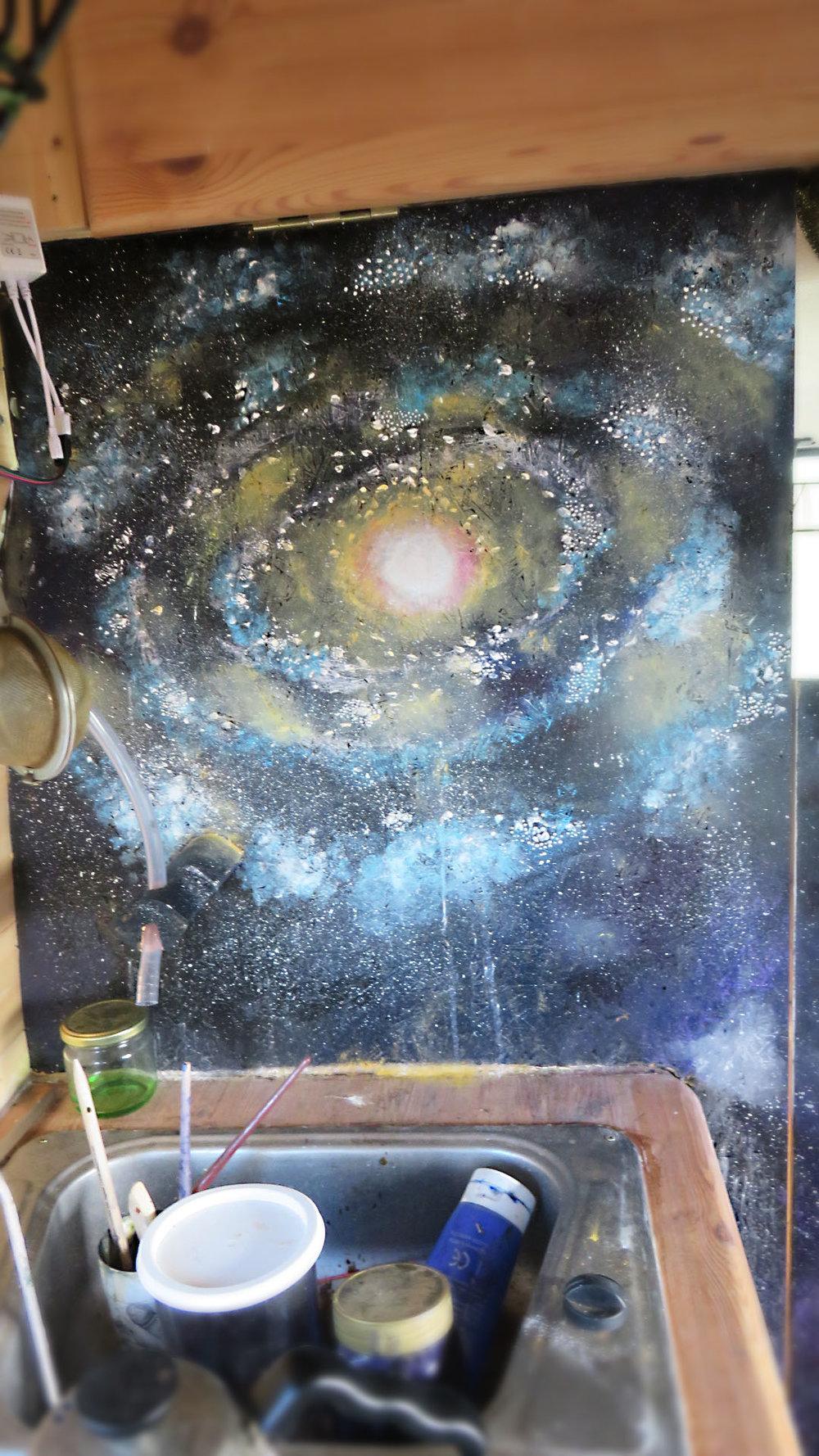 Galaxy Van Mural