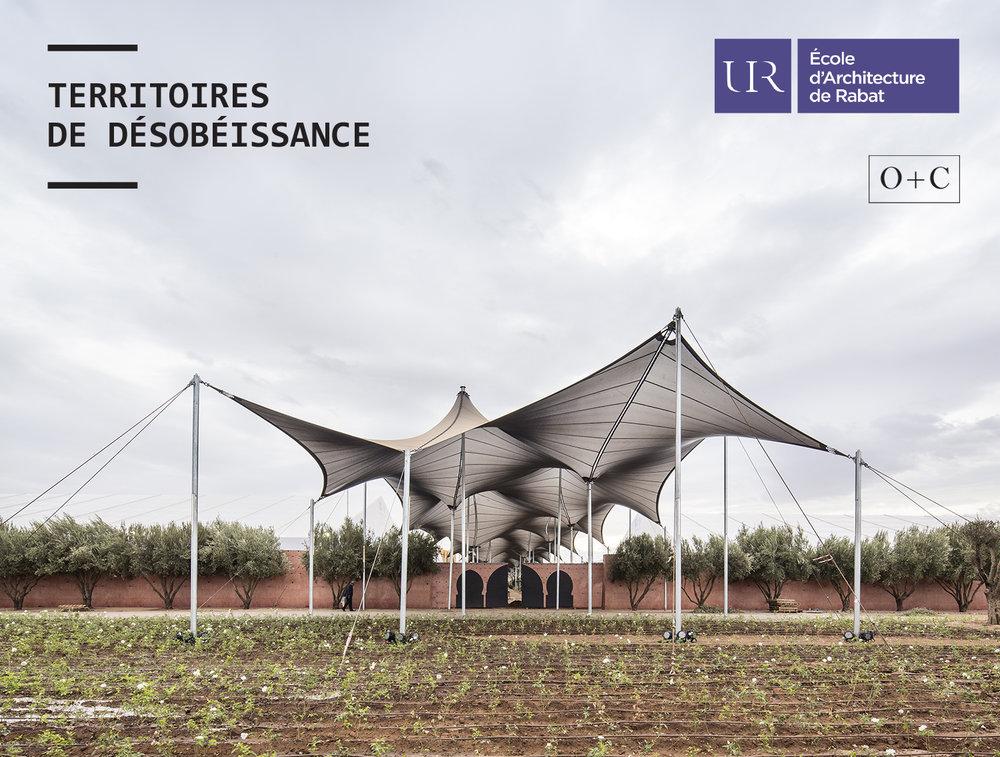 conf - MAR. 21, 2018 | Tarik Oualalou presents TERRITORIES OF DISOBEDIENCE at the Université Internationale de Rabat