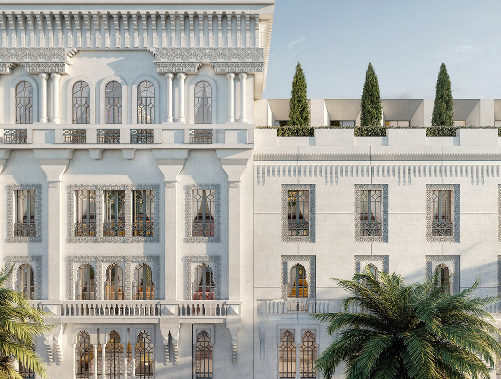 """MAGS - JAN. 2019   TEL QUEL publishes a feature story on O+C's renovation of the iconic """"Hôtel Lincoln"""" in Casablanca, which will become a 4-star hotel"""